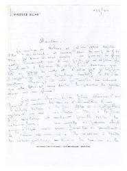 Maurice Béjart a Federico Fellini 11 marzo 1974