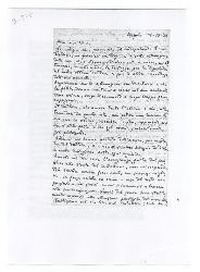 M[ichele] Cianciulli a Nino [Rota], Napoli 19 settembre 1944