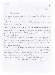 Michele [Cianciulli] a Nino [Rota], Roma 4 novembre 1945