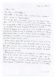 M[ichele] Cianciulli a Nino [Rota], Roma 21 novembre 1953
