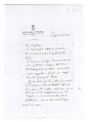 Nino [Rota] a [Michele Cianciulli], Bari 20 aprile 1959