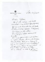 Nino [Rota] a [Michele Cianciulli], Bari 20 luglio 1964