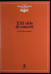 Milano. Teatro alla Scala - Stagione 1982-83 - XXI ciclo di concerti 15 novembre 1982 - 6 giugno 1983