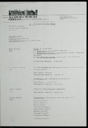 Siena. 44° Settimana musicale senese 5 agosto 1987