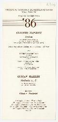 Parma; Modena; Piacenza; Ravenna; Ferrara. Orchestra sinfonica dell'Emilia Romagna - Stagione concertistica '86 9 maggio 1986 - 16 maggio 1986
