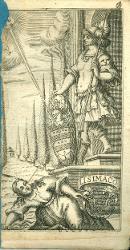 Lisimaco La Maldicenza colpita da Minerva / Antiporta figurata