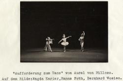 Aufforderung zum Tanz (Invito alla danza) Magda Karder, Hanns Poth, Bernhard Wosien. / Foto di scena