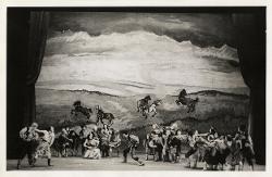 Puszta-Zigeuner (Zingari nella puszta) Veduta d'insieme della scena con numerosi interpreti / Foto di scena