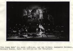 Don Juans Ende Veduta d'insieme della scena con interpreti / Foto di scena