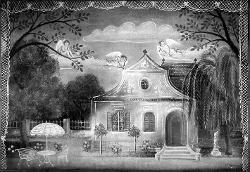 Ungarische Romantik (Ungheria Romantica) Elegante abitazione con giardino / Bozzetto