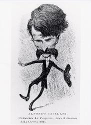 Catalani Alfredo (Lucca, 1854 - Milano, 1893) / Caricatura