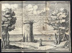 Il Greco in Troia Margine del fiume con torre / Illustrazione