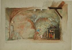 I capricci di Callot Interno di una sartoria / Bozzetto