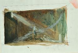 I capricci di Callot Grande sala con scala in diagonale / Bozzetto