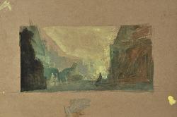 Semiramide Veduta di Babilonia / Bozzetto