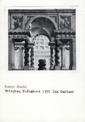 Arco trionfale che inquadra un interno / Architettura