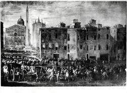 Processione nella piazza del Duomo di Parma / Illustrazione