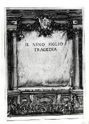 Il Nino figlio tragedia Frontespizio con titolo / Illustrazione