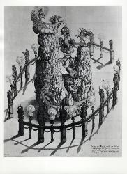 Monte con personaggi mitologici / Illustrazione