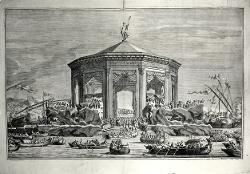 Struttura monumentale in mare / Illustrazione