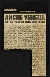 Anche Venezia ha un teatro universitario  08 giugno 1950 - 09 giugno 1950