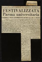 Festivalizzata Parma universitaria  10 aprile 1954 - 11 aprile 1954