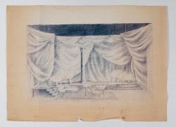 Antigone La sala del palazzo / Bozzetto