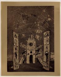 L'astrologo Torre dell'orologio con segni zodiacali / Bozzetto