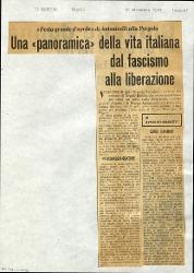 Una «panoramica» della vita italiana dal fascismo alla liberazione  : «Festa grande d'aprile» di Antonicelli alla Pergola 18 dicembre 1964