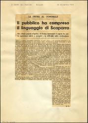 Il pubblico ha compreso il linguaggio di Scaparro  23 dicembre 1964
