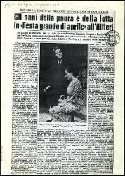 Gli anni della paura e della lotta in «Festa grande di aprile» all'Alfieri  15 gennaio 1965