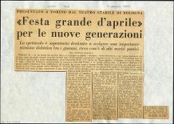 «Festa grande d'aprile» per le nuove generazioni  15 gennaio 1965