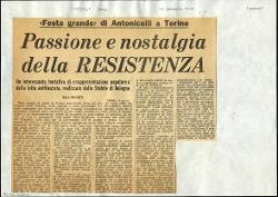 Passione e nostalgia della RESISTENZA  : «Festa grande» di Antonicelli a Torino 15 gennaio 1965
