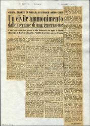 Un civile ammonimento dalle speranze di una generazione  : «Festa grande di aprile» di Franco Antonicelli 15 gennaio 1965
