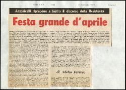 Festa grande d'aprile  : Antonicelli ripropone a teatro il discorso della Resistenza 07 febbraio 1965