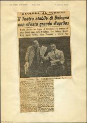 Il Teatro stabile di Bologna con «Festa grande d'aprile»  : Stasera al Verdi 02 aprile 1965